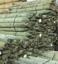 Round Fence Posts & Rails
