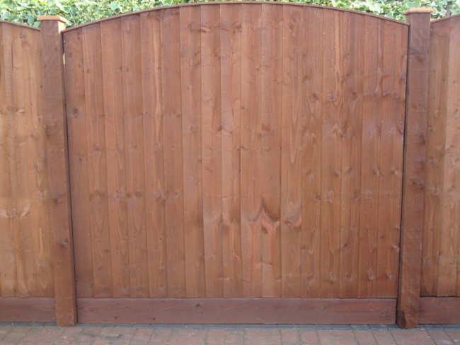 6ft X 3ft 6 Quot Arch Top Feather Edge Fence Panels