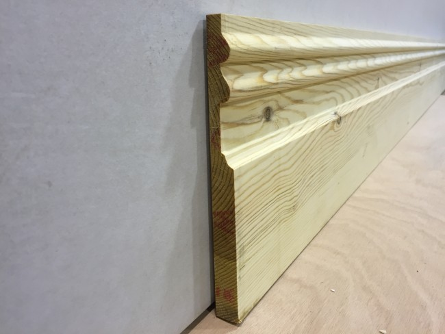 25mm X 225mm Double Sunk Victorian Skirting