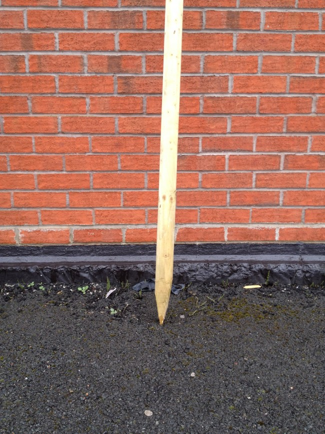 1 8mtr 65mm Tanalised Machined Post