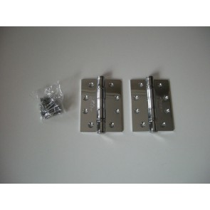 "4"" Chrome Ball Bearing Hinges(PAIR)"