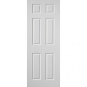 "6' 6"" X 2' 9"" White 6 Panel Internal Door"