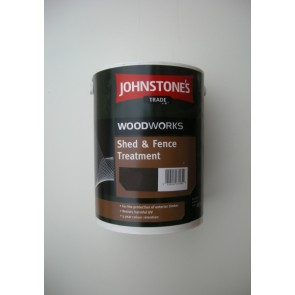 5.0 Litre Dark Oak Johnstones Shed & Fence Treatment