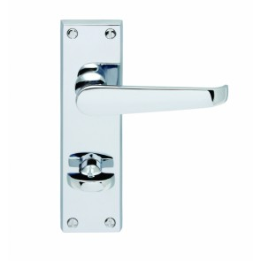 Carlisle Brass CBV30WCCP Victorian Lever Bathroom Door Handles (Pair)