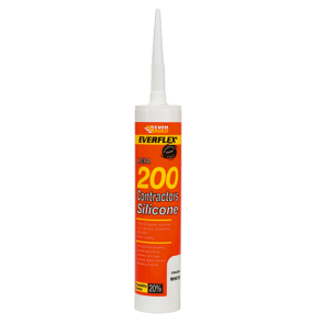 295ml White Everbuild 200 Contractors LMA Silicone Sealant
