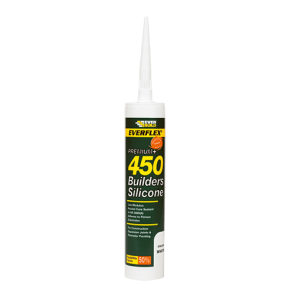 295ml Clear Everbuild 450 Builders Silicone Sealant