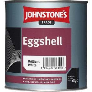 1 Litres Brilliant White Johnstones Eggshell Paint
