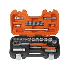 Bahco S330 Socket Set 34 Piece 1/4in & 3/8in Drive