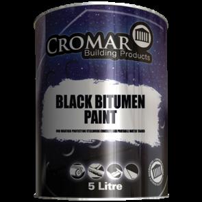 1 Litre Cromar Black Bitumen Paint