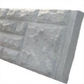 "6ft x 12"" Rockface Concrete Base Panel"