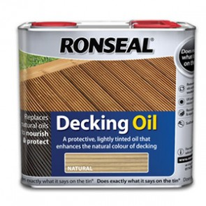2.5 Litre Natural Cedar Ronseal Decking Oil