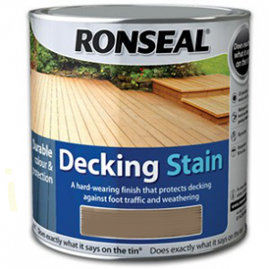 2.5 Litre Stone Grey Ronseal Decking Stain