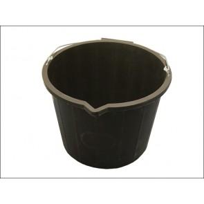 Black 3 Gallon Bucket 14 Litre