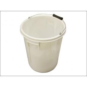 White 5 Gallon Bucket 25 Litres