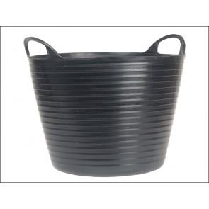 Black 14 Litres Heavy-Duty Polyethylene Flex Tub