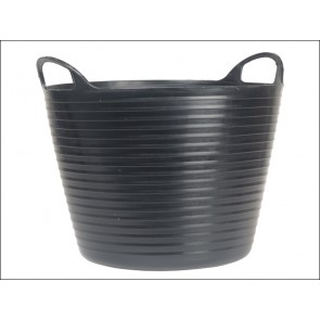 Black 42 Litres Heavy-Duty Polyethylene Flex Tub
