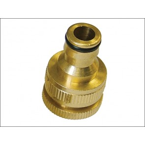 "Brass Dual Tap Connector ½"" & ¾"""