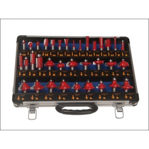 Faithfull Router Bit Set of 35 Piece TCT 1/2in Shank