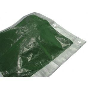 Tarpaulin Green / Silver 3.6m x 2.7m (12ft x 9ft)