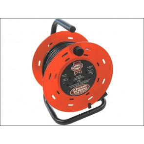 25 Metre Faithfull Cable Reel 13 Amp 230 Volt
