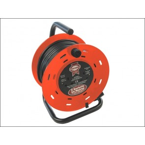 50 Metre Faithfull Cable Reel 13 Amp 230 Volt