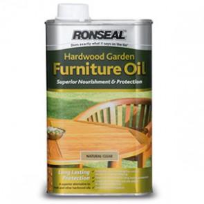 1 Litre Natural Clear Ronseal Hardwood Furniture Oil