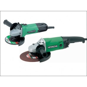 110 Volt Hitachi Angle Grinder Twin Pack 115mm + 230mm