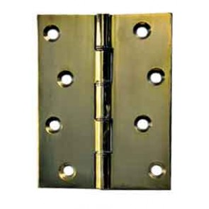"4"" (100MM) SPECIALIST STEEL BUTT HINGES BRASS PLATED(PAIR)"