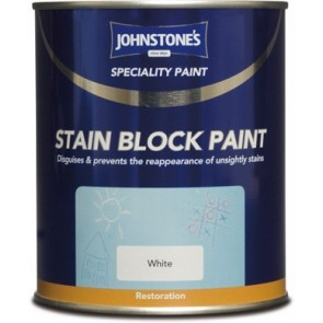 750ml White Johnstones Stain Block Paint