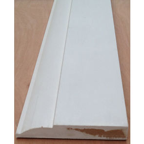 4.4mtr 18mm x 168mm White Primed Ovollo MDF Skirting Board