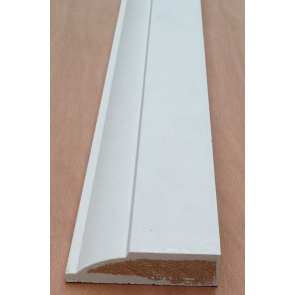 4.4mtr 19mm x 69mm White Primed Ovollo MDF Architrave )