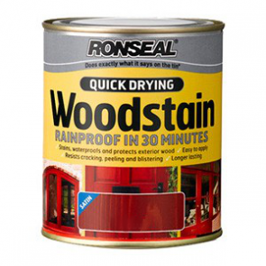 250 ml Deep Mahogany Ronseal Woodstain Quick Dry Satin