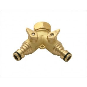 Brass Dual Tap Connector ¾""