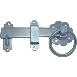 "6"" (150MM) SPECIALIST RING GATE LATCH ZINC PLATED"