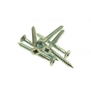 10 x 1 Twin Thread Woodscrews Zinc Plated Pozi