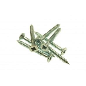10 x 4 Twin Thread Woodscrews Zinc Plated Pozi