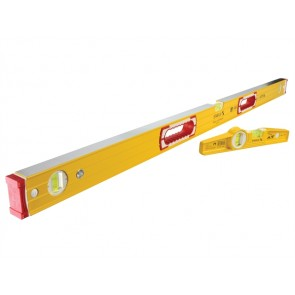 Stabila Spirit Level Twin Pack - Builders 120cm + Torpedo