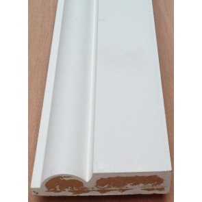 4.4mtr 19mm x 69mm White Primed Torus MDF Architrave