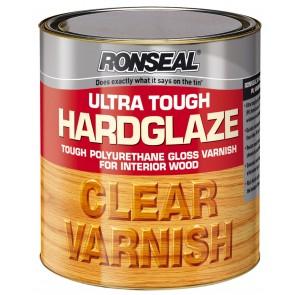 2.5 Litre Ronseal Ultra Tough Hardglaze Internal Clear Gloss Varnish