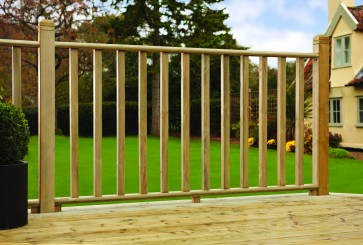 41mm Stop Chamfered Tanalised Decking Spindle