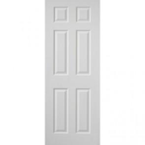 """6' 6"""" X 2' 9"""" White 6 Panel Internal Door"""