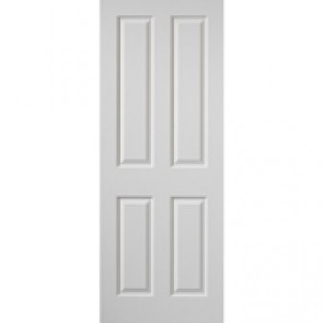 """6' 6"""" X 2' 9"""" White 4 Panel Internal Door"""