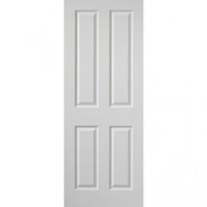 """6' 6"""" X 2' 3"""" White 4 Panel Internal Door"""