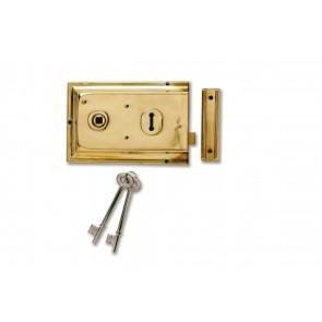 Yale Rim Lock (Brass Plated)