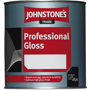 1 Litres White Johnstones Professional Gloss Paint