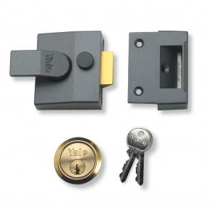 Yale 85 Security Nightlatch Grey