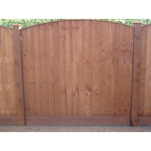 "6ft x 1ft 6"" Arch Top Feather Edge Fence Panel"