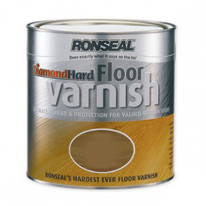 2.5 Litre Satin Ronseal Diamond Hard Floor Varnish