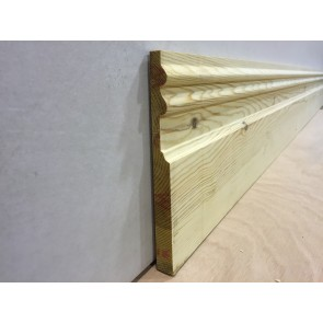 20mm x 219mm Double Sunk Victorian Skirting (Price Per Mtr.)