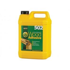 5 Litre Everbuild All Purpose Weatherproof Wood Adhesive 502